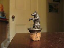 vintage old silver metal bear cork