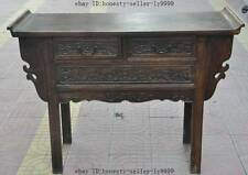 "44"" old chinese Antique Furniture Hand-carved huanghuali wood flower Tables Desk"