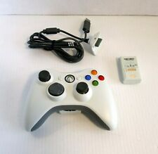 Microsoft Xbox 360 Wireless Controller with Rechargeable Battery Pack and Cable