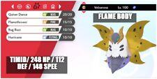 6IV ULTRA Shiny VOLCARONA BATTLE READY Pokemon Sword and Shield