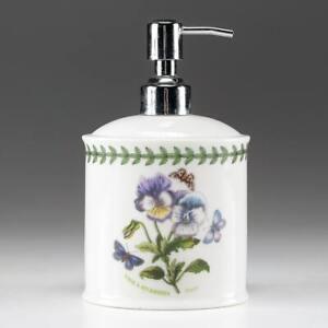 Portmeirion Botanic Garden Lavender Pansy Flowers Butterflies Soap Dispenser
