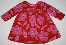BABY LULU Boutique Gorgeous Dress Girl Size 18 Months Floral Red Pink