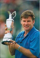 Sir Nick FALDO SIGNED 12x8 Photo AFTAL COA Autograph Open Winner Muirfield GOLF