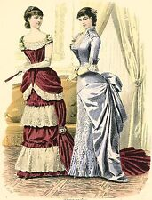DRESSED IN BALL GOWNS~cross stitch pattern #408~PEOPLE
