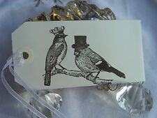 10 White Love Birds Wedding Wish Tree Tags Wishing Tree Favours Place Card