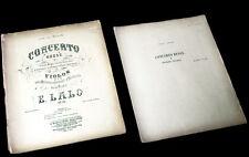 concerto russe Op.29 partition violon piano 1910 Edouard Lalo
