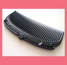 elegant black plastic small princess hair comb B