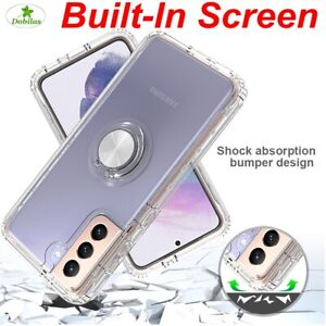 Hard Strong Ring Stand Clear Cover Hybrid Transparent Case For Galaxy S21 S21+