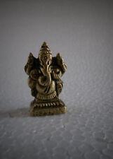 Lord Ganesha Shri Ganesh - 1.5 Inch Mini Adorable Brass Statue