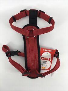 "Kong Comfort Padded Dog Harness 20""-29"" Medium Red"
