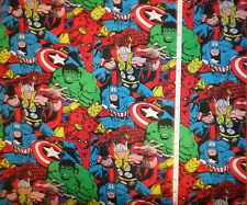 New - Marvel Super Heroes - Avengers - Large Print Cotton Fabric  by the yard