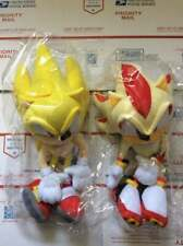 """Sonic The Hedgehog Great Eastern GE Plush Lot - Super Sonic & Shadow 12"""" inches"""