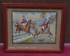 rare ancienne magnifique aquarelle courses hippique 5.GENTLEMENS .RIDERS.LEBROOK