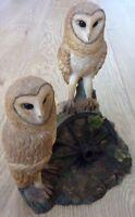 Leonardo Vintage Collection 2 Barn Owls Ornament 1998 Size 7 x 6.5 inch