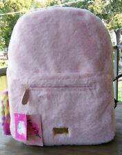 Nwt Betsey Johnson Furry Bunny Large Hoo Backpack School Bag Blush Black