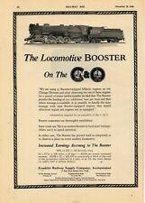 1926 Franklin Railway Supply Co. Ad: Chesapeake & Ohio Locomotive Booster Mikado