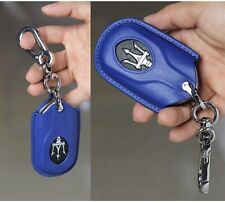 Maserati Quattroporte Ghibli Levante leather key chain cover case shell BLUE