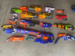 Massive Nerf Dart Gun Blaster Party Lot Hasbro Small medium Large 20+ #1