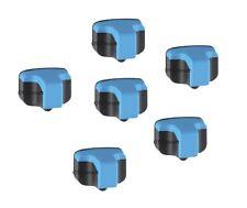 6 x Cyan Ink Pack Cartridges for HP 02 Photosmart Printers C7150 C7180 C7250