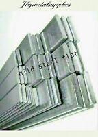 MILD STEEL FLAT BAR - Grade EN1A - multi variations, thickness,width,length