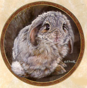 Bunny Tales Collection, by Vivi Crandall, Bradford Exchange Plate, Tail Feathers