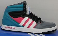 Men's Adidas Court Attitude Originals Basketball Shoes Teal/Black/Pink/Gray