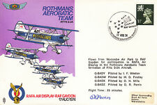 AD5 Rothmans Air Display RAF flown Cover 1974 signed PERRIN