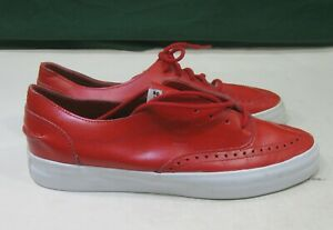 ALIFE COURT CUP LEATHER SNEAKERS SHOES RED low  top Sneakers MEN SIZE 10