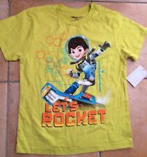 Disney Store Verde millas de Tomorrowland permite cohete camiseta M Edad 7-8 orgánico