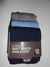 Three Soft Touch Ankle High Ladies Socks