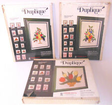 Lot of 3 Duplique Applique Collage Craft Kits Fruit Flowers Vintage Retro Sealed