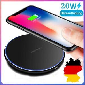 20W Wireless Charger Ladegerät Kabellos Handy Ladestation für iPhone Samsung