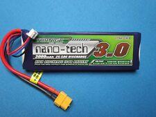 TURNIGY NANO-TECH 3000mAh 2S 7.4V 25C 50C LIPO BATTERY XT60 TRUCK QUAD BUGGY RC