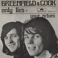 GREENFIELD & COOK - Only Lies / Your Return - POLYDOR 1971 hit holland - 45rpm