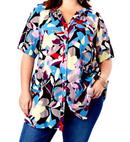"Women's 3X 28W Tunic Blouse Angelina Shirt Crinkle Crepe Bust 62 L 34 ROAMAN""S"