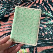 COACH Green Passport Case Cover