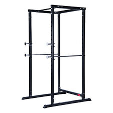 New Soozier Strength Training Power Squat Rack Safety Bars Weight Pull Up Cage