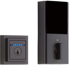 Bluetooth Smart Lock Deadbolt Square Iron Black Single Cylinder Touch-to-Open