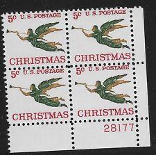 US Scott #1276, Plate Block #28177 1965 Christmas 5c FVF MNH Lower Right