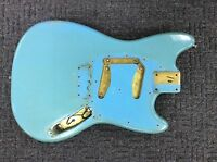 VINTAGE  1965 USA FENDER DUO SONIC MUSICMASTER GUITAR BODY DAPHNE BLUE 1966