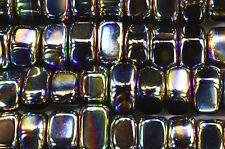 "Rainbow Magnetic Hematite 1/2"" Set of 2 Polished Crystals Root Chakra Reiki"