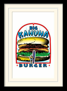 Tarantino Big Kahuna Burger  Framed & Mounted Print