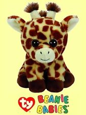 """Ty® 7"""" Peaches Beanie Babies® Sitting Giraffe - FROM OUR WILDLIFE STOCK"""