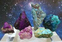 Lot Rare Rough SUGILITE Wessels Mine, South Africa + Rough SHATTUCKITE Congo SS3