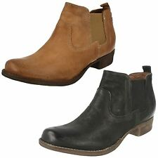 Clarks 100% Leather Pull On Casual Boots for Women