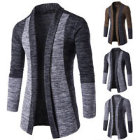 Stylish Men's Knitted Cardigan Long Sleeve Casual Slim Fit Sweater Jacket Coat