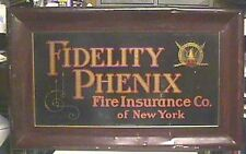 Circa 1900 Fidelity Phenix Fire Ins. Co. Tin Sign