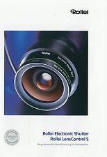 Prospekt brochure Rollei Electrocic Shutter + Lens Control S 7 00 2000 Katalog