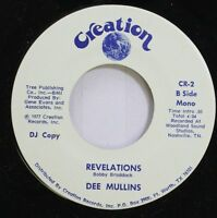 Country Promo 45 Dee Mullins - Revelations / Revelations On Creation