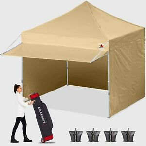 ABCCANOPY 3x3m Pop Up Gazebo Commercial Market stall with Side Panels and Door W
